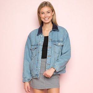 Brandy Melville Shaine Denim Jacket - Size M